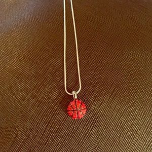 Jewelry - BASKETBALL 🏀 PENDANT & NECKLACE STERLING SILVER